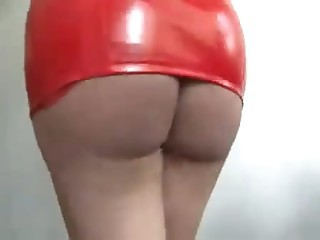 Kirmess Shemale in red Latex  solo