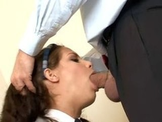 Blowjob Clothed Old and Young Student Teacher Teen Uniform