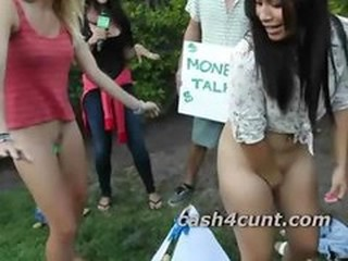 Money is used to get girls unclad after meeting them upon public