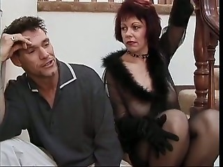 Hot Cougar Rubee Tuesday Assbanged on Stairs