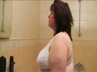 Bathroom Big Tits Chubby Granny