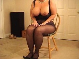Big Tits  Natural Pantyhose