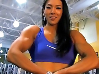 Asian Female Bodybuilder Hulking...