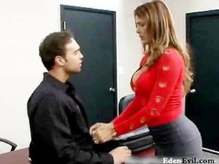 Amazing Big Tits  Office Old and Young Pornstar Secretary