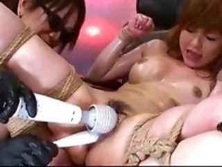 Asian Bondage Fetish Oiled Toy