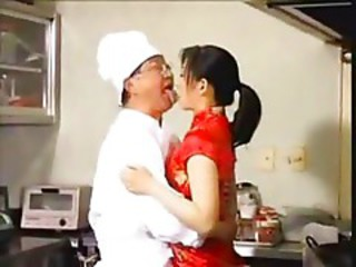 Asian Chinese Daddy Kitchen Old and Young