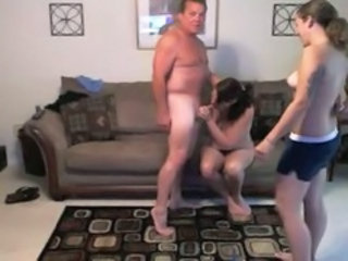 Blowjob Daddy Family Old and Young Threesome Webcam