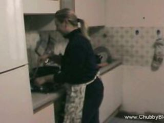 Amateur Chubby Kitchen Wife