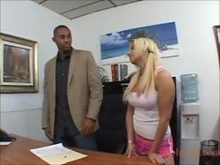 European Interracial Office Teen