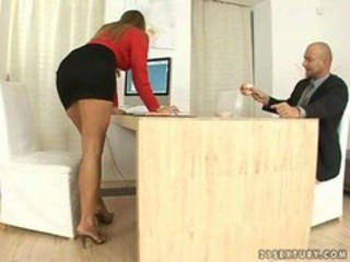 "Hot secretary does footjob and gets fucked"" target=""_blank"