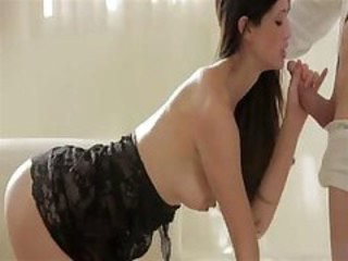 "Nice Tiffany's pussy is loyal to her boyfriend's huge drum-stick"" target=""_blank"