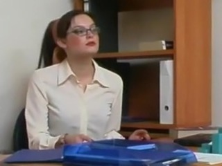 Office babe masturbating