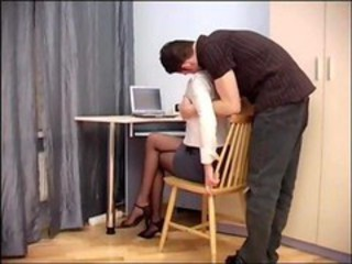 "Secretary sex in sheer crotchless pantyhose"" target=""_blank"