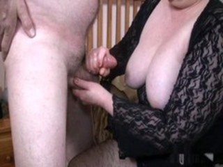 Amateur Handjob SaggyTits Small cock Wife