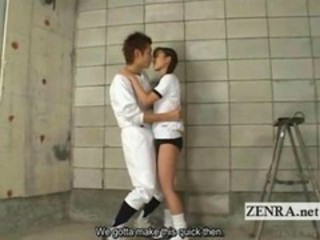 "An after school tryst between a practice cutting baseball player and his flexible Japanese ballet dancer girlfriend occurs in an unused storage room a"" target=""_blank"