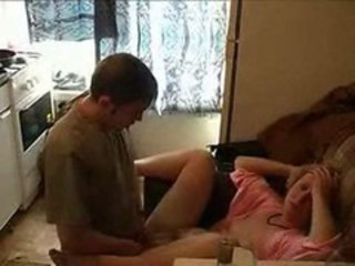 Amateur Drunk Homemade Kitchen Mom Old and Young Russian