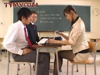 Amazing  Old and Young Pornstar School Stockings Teacher Threesome