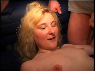 Amateur Blonde Gangbang  Wife