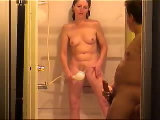 Amateur Homemade Masturbating Older Showers Wife