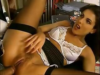 Anal Babe Lingerie Office Secretary Stockings