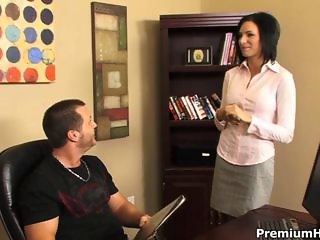Perfect latin slut Juelz Ventura with nice juggs enjoys her boss strong shaft
