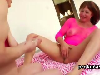 Extreme lesbians insert toys in anal prolapse and licking it eagerly and pushing it deepthroat