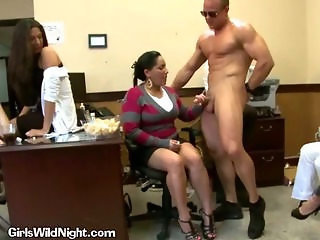 Handjob  Office Party Secretary