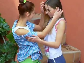 Romantic lesbo adventure from Russia of 18 years old teenies