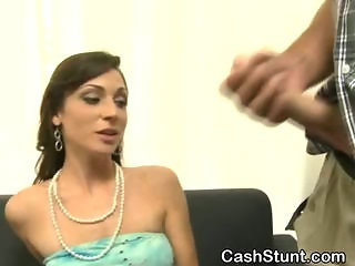 Brunette Amateur Sucks Off Stranger Forth Cash Burglary