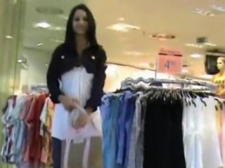 Indian Girl in clothe store