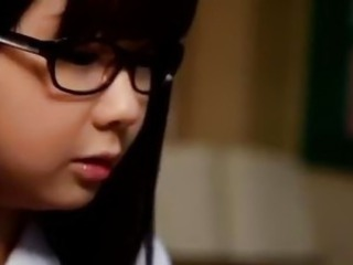 Asian Glasses Student Teen
