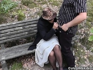 Amateur Blowjob Clothed Mature Outdoor Public