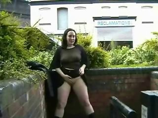 Amateur Chubby  Outdoor Public