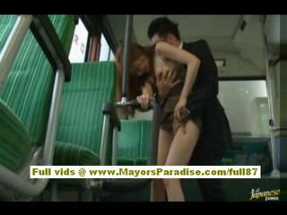 Rio Asian model is fucked on the bus Sex Tubes