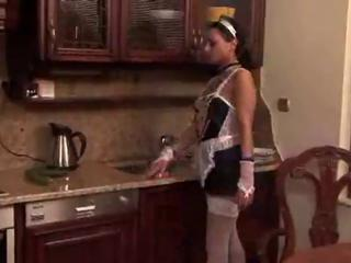 Papa - Maid masturbates in the kitchen! Sex Tubes
