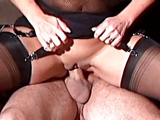 Hot Busty Mature Fucks encircling Stockings with an..
