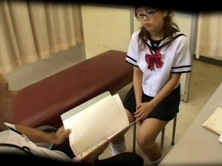 Asian Doctor Glasses HiddenCam Japanese Student Teen Uniform Voyeur