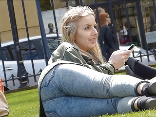Jeans Outdoor Public Teen Voyeur