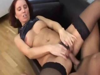 "Sweet mom in stockings with hairy cunt"" class=""th-mov"