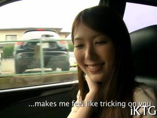Asian Car Cute Public Teen