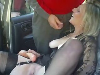 Amateur British Car Cumshot European   Stockings Swallow Wife