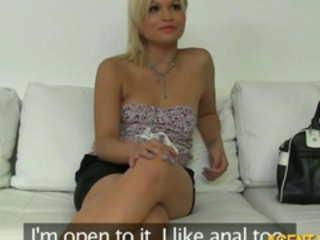 Perky tits amateur Kitti fucked and facialed during her casting Stream Porn