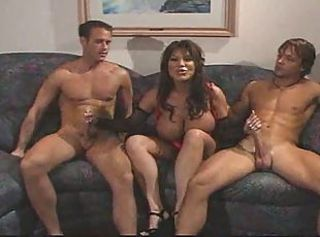 Big Tits Handjob  Mom Old and Young Threesome
