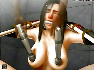 Tied Up Animated Babe Gets Drill...