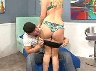 Juicy blonde with wet pink hole is thoroughly licked and fucked by ...