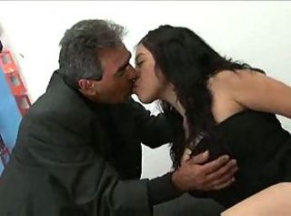 Asian Daddy Interracial Kissing Old and Young Teen