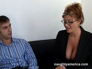 Big Tits Glasses  Natural Old and Young Secretary