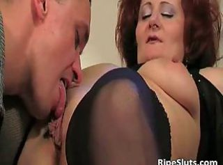 Mature redhead with big boobs gets that