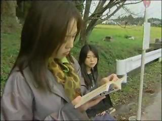 Asian Japanese Lesbian Outdoor Public Teen