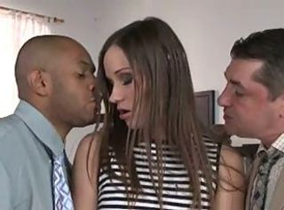 Babe Cute Double Penetration Hardcore Interracial Threesome
